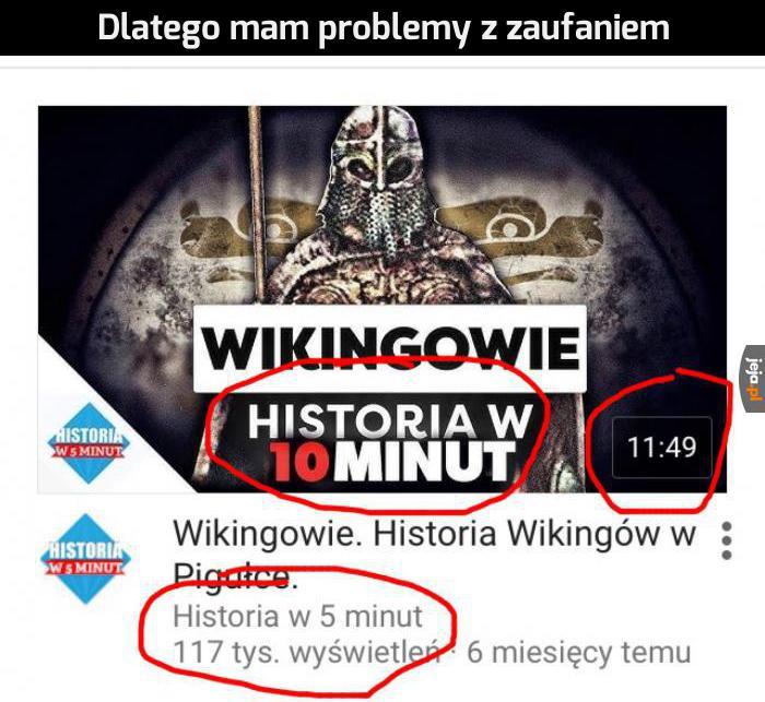 To w końcu historia w ile minut?