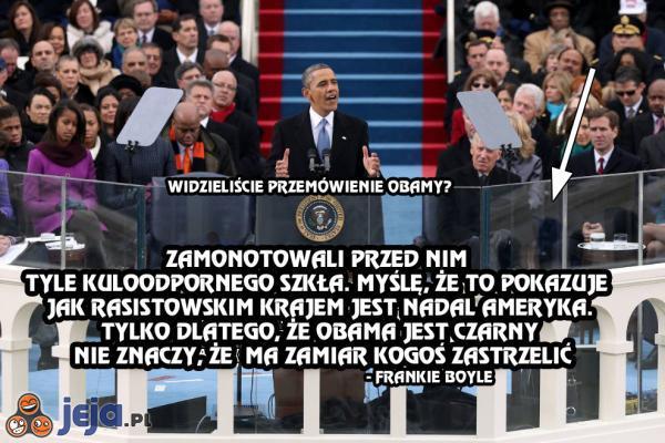 Obama i szkło kuloodporne