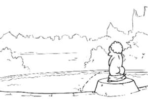 Syrenka vs pomnik