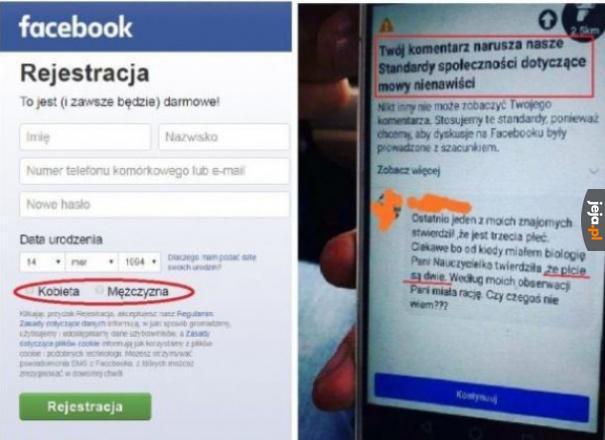 Hipokryzja level: Facebook