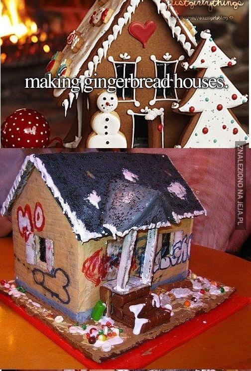 Robienie domków z piernika