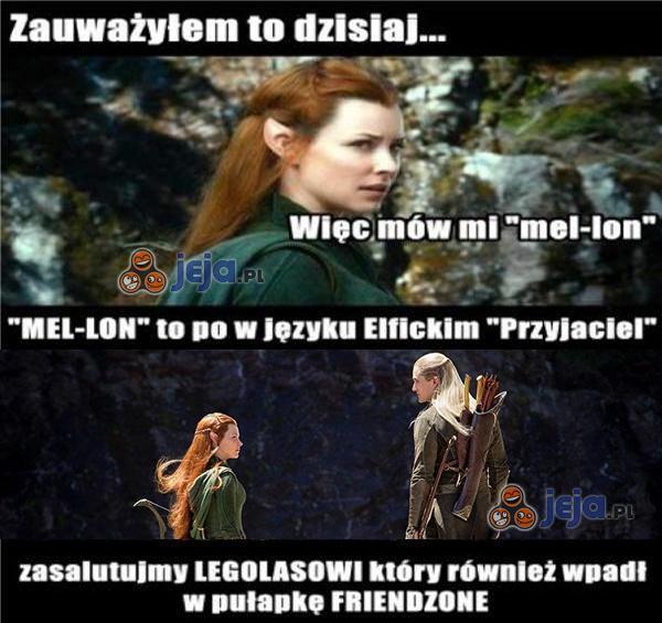 Biedny Legolas...