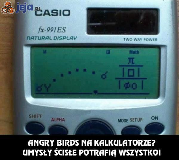 Angry Birds na kalkulatorze