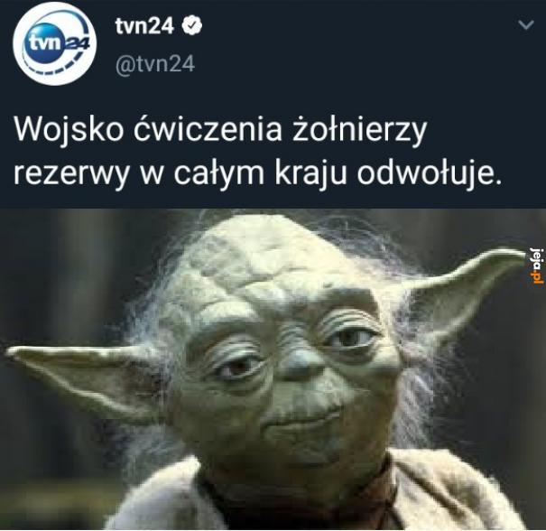 Yoda pracuje w TVN