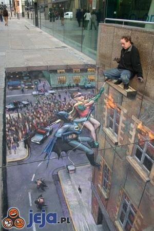 Iluzja na chodniku - Batman