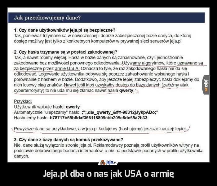 Jeja.pl dba o nas jak USA o armię