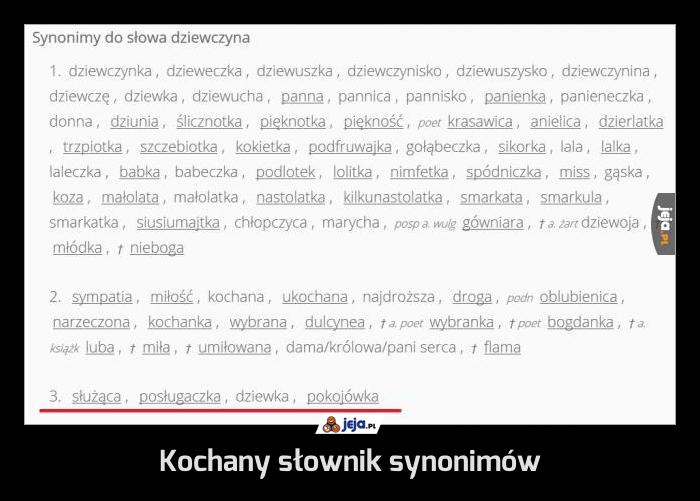 Kochany słownik synonimów