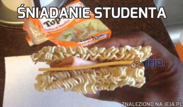 Śniadanie studenta