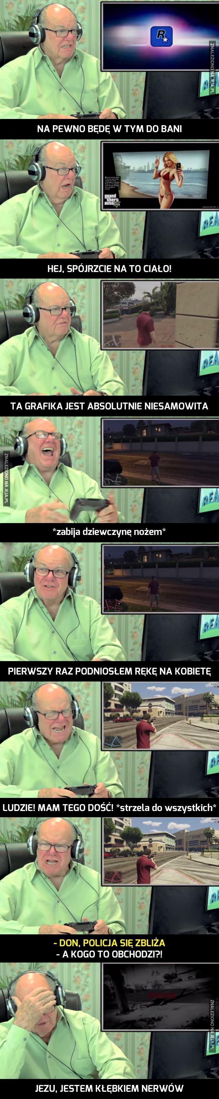 Starszy pan gra w GTA V