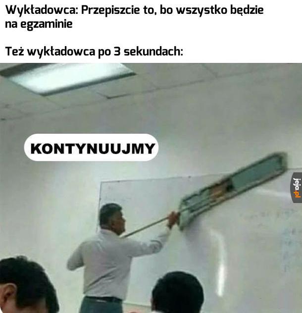 Typowy wykładowca