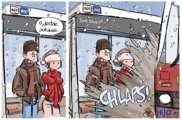Koniec zimy na przystanku