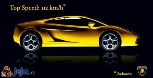 Maksymalna prędkość 112km/h