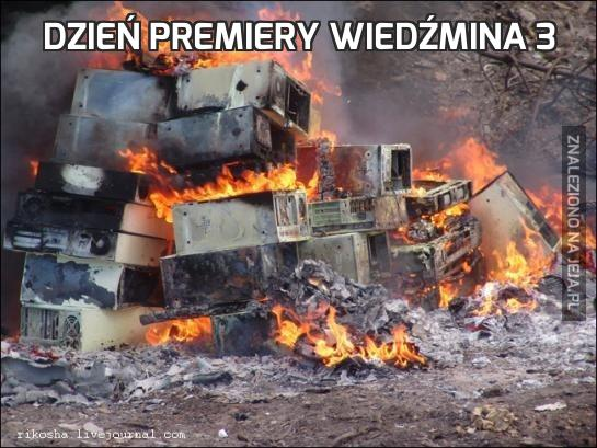 Dzień premiery Wiedźmina 3
