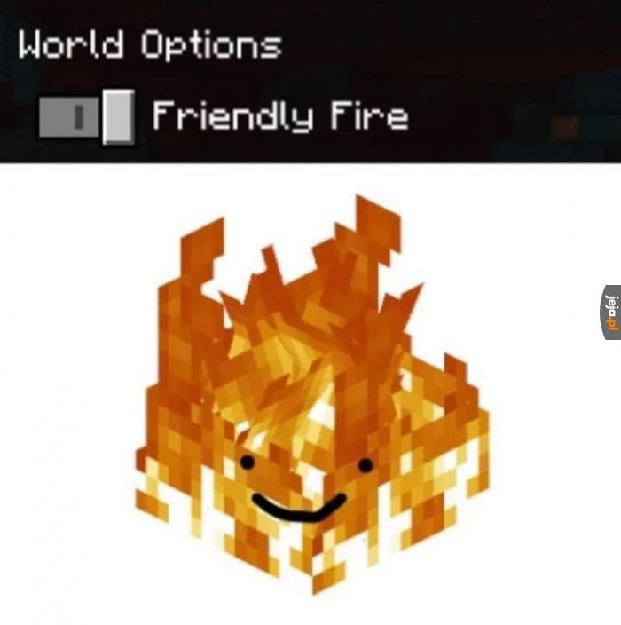 Bardzo przyjazny ten ogień