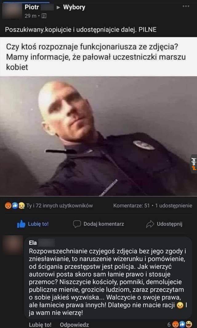 Kojarzy ktoś tego policjanta?
