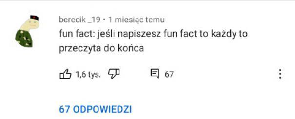 Śmieszny fakt
