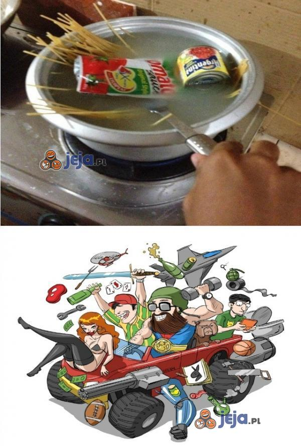 Jak faceci gotują spaghetti