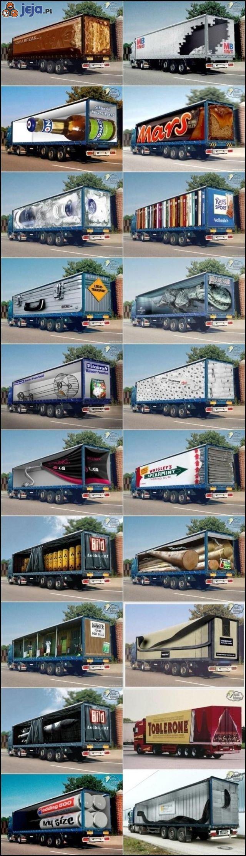 Reklamowe ciężarówki