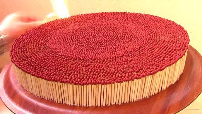Zapałkowy tort