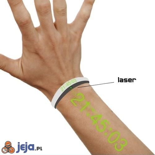 Laserowy zegarek