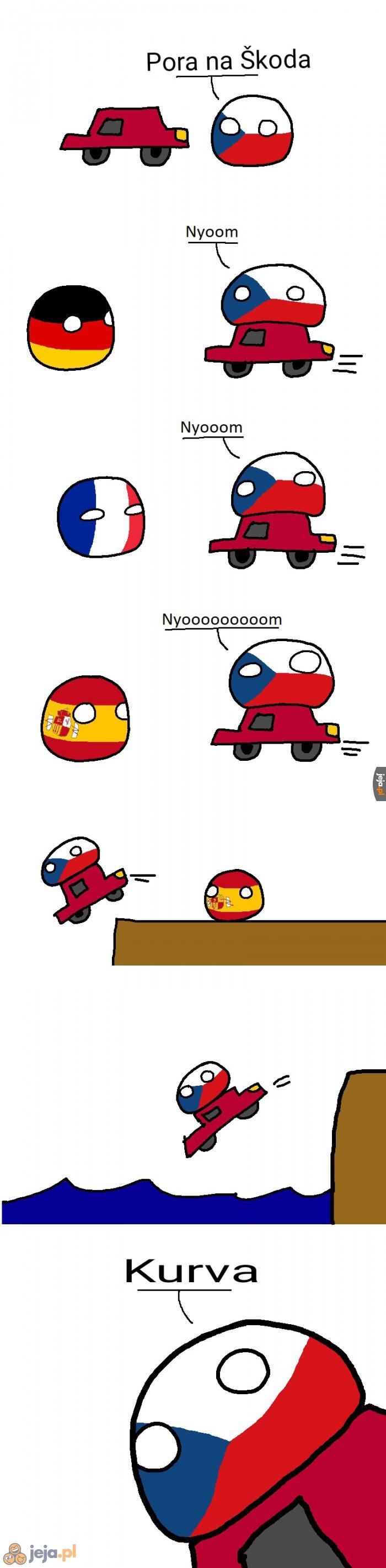 Wybrał się Czech na przejażdżkę...