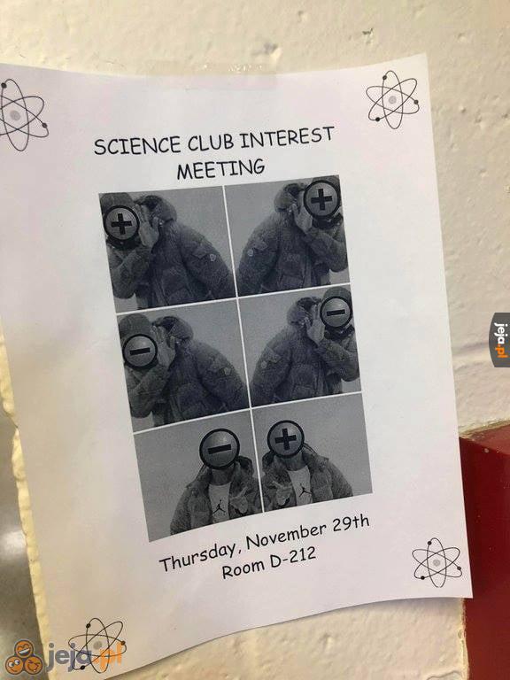 Spotkanie klubu naukowego - mnie zachęcili