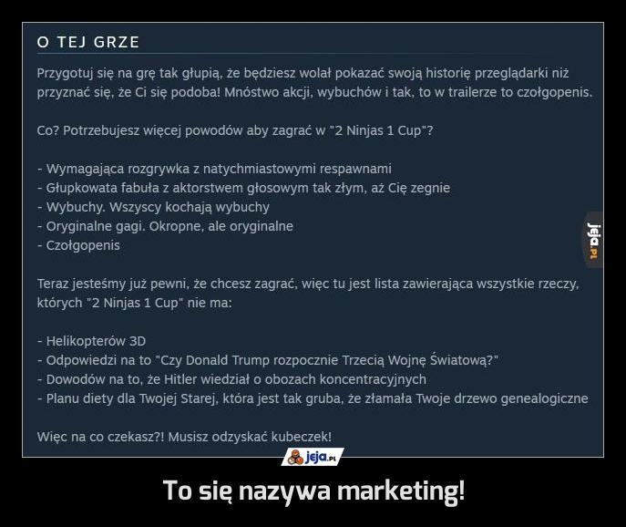 To się nazywa marketing!