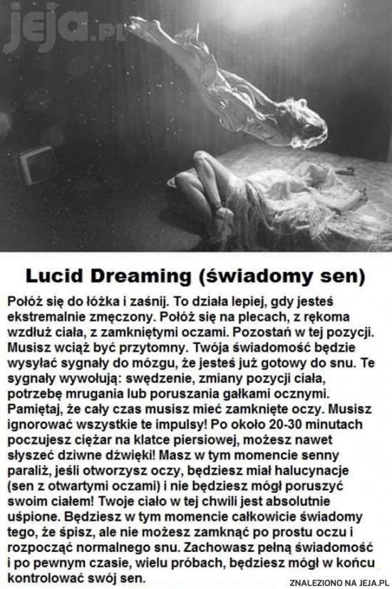 Jak świadomie śnić?