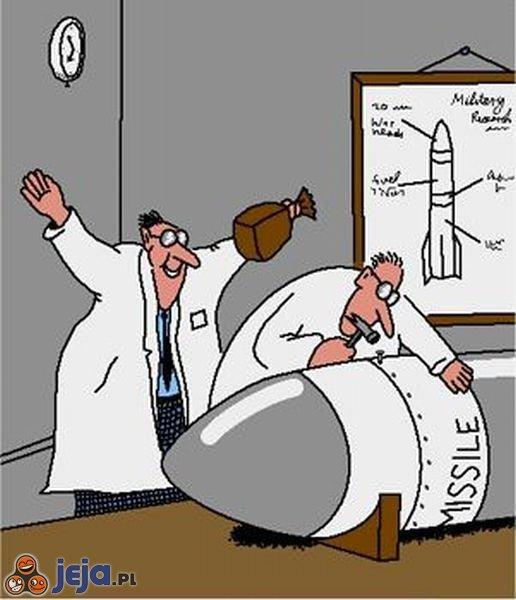 Zaskoczenie przy konstruowaniu rakiety