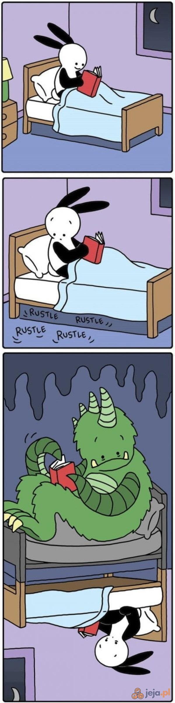 Dziwne szmery pod łóżkiem