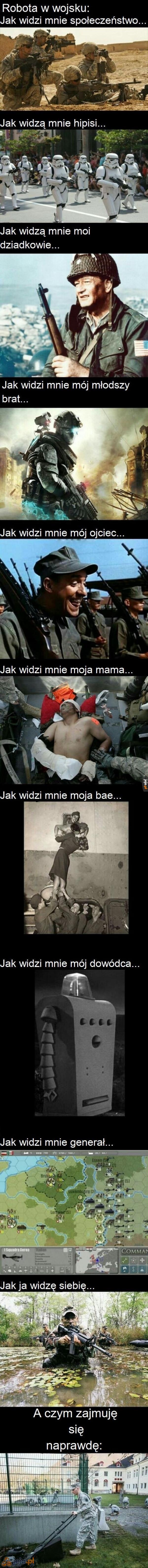 Realia pracy w armii