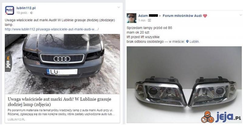 """W Lublinie giną lampy. Dobrze, że można tanio kupić """"nowe""""!"""