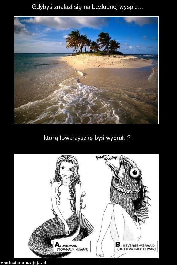 Gdybyś znalazł się na bezludnej wyspie