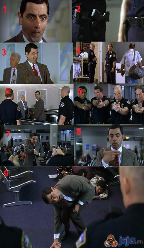 Jaś Fasola na lotnisku