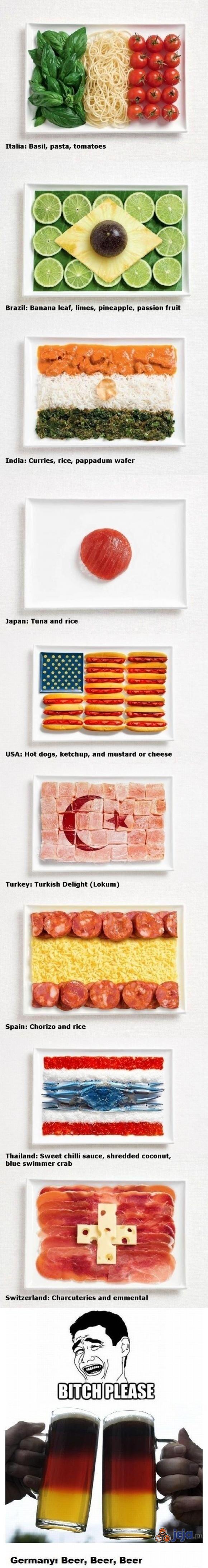 Flagi i jedzenie