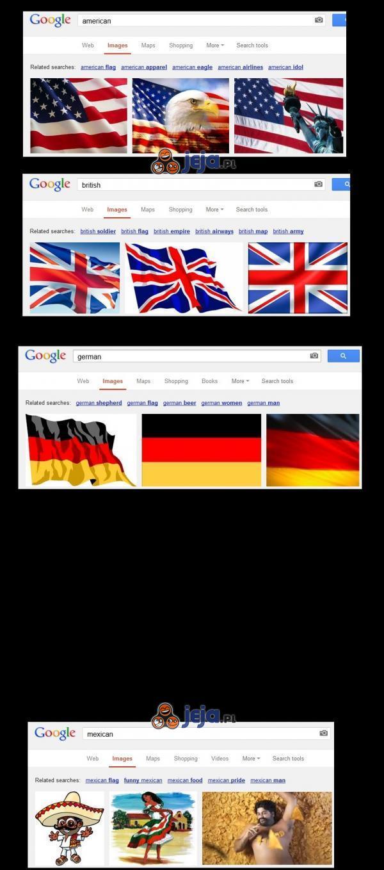 Państwa i wyniki wyszukiwania