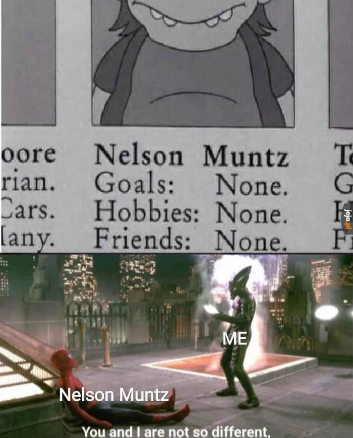 Mamy coś wspólnego z Nelsonem