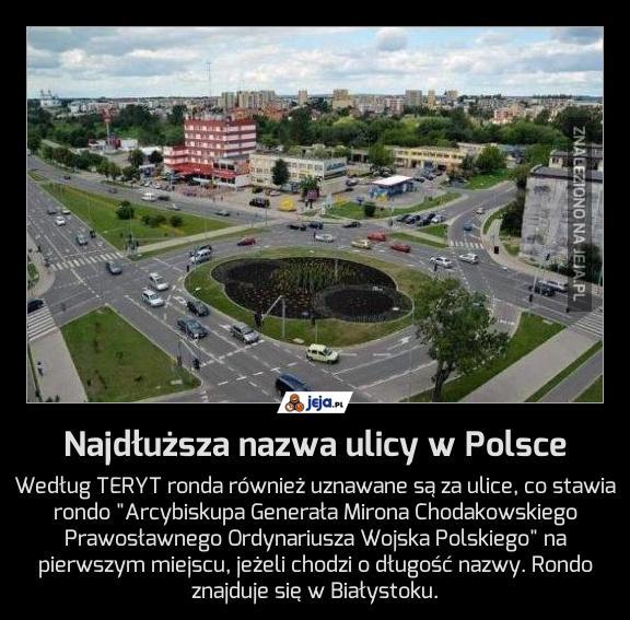 Najdłuższa nazwa ulicy w Polsce