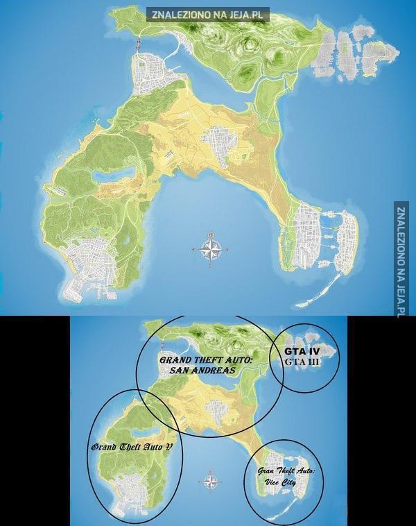 Wszystkie mapy GTA w jednej
