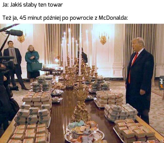 Trump zaprosił drużynę footballową do Białego Domu i ugościł ich fastfoodami