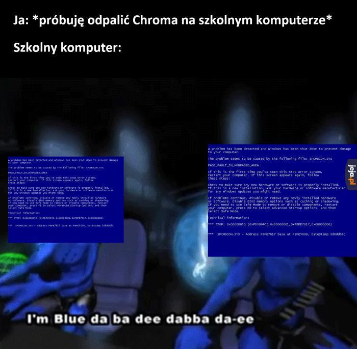 Niebieski to ładny kolor