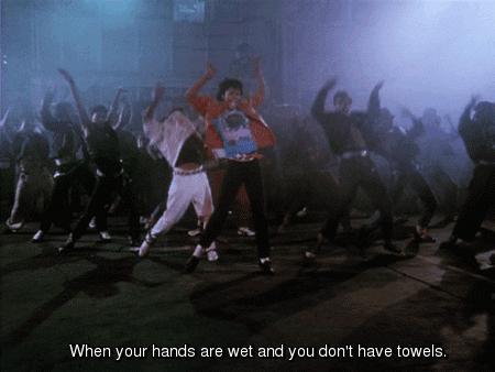 Gdy masz mokre ręce i nie masz ręcznika