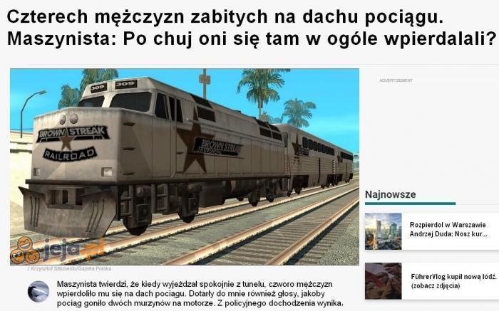 Przepraszamy za opóźnienia w kursowaniu pociągów