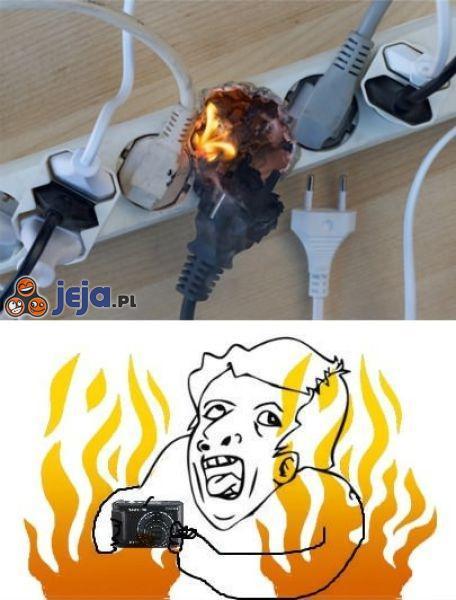 W razie pożaru zrób zdjęcie