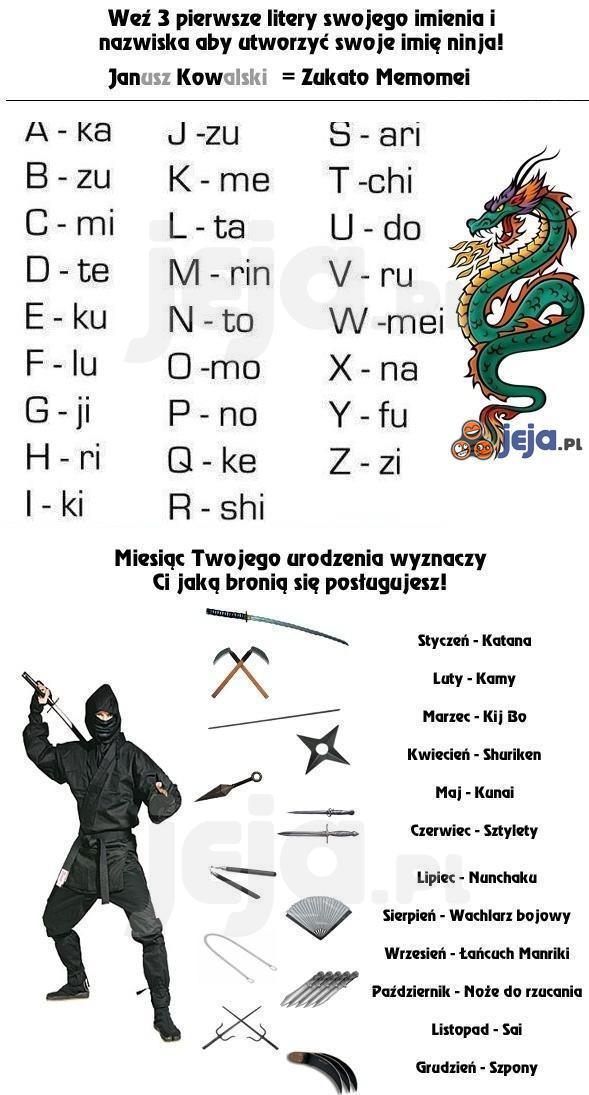 Twój własny Ninja!