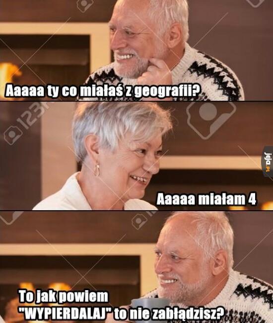 Co miałaś z geografii?