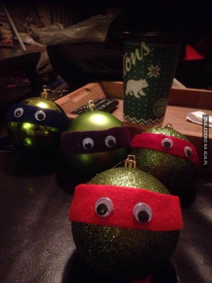 Christmas Bombki Ninja Turtles