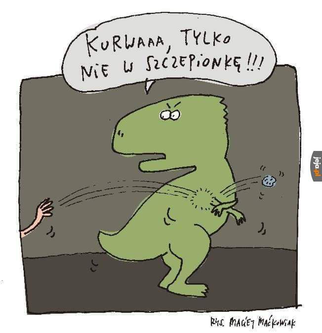 Dinozaury są mądre i się szczepią