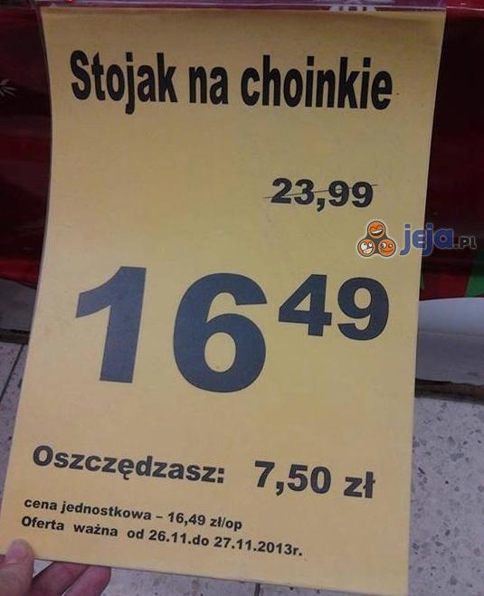Kup Pan stojak na choinkie!