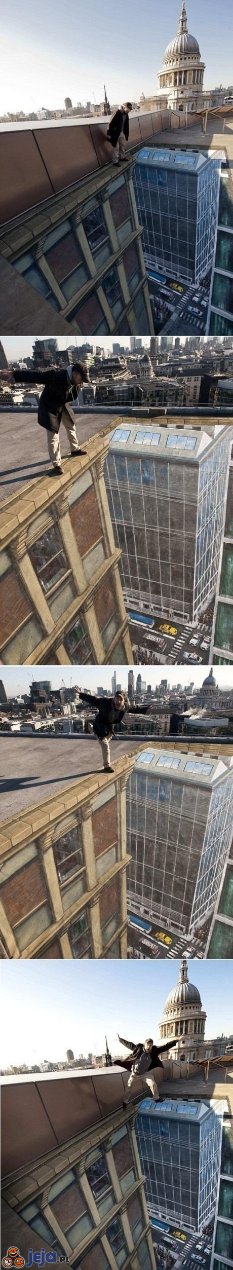 Iluzja na dachu - przepaść